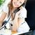 ярко · деловая · женщина · говорить · телефон · сидят · служба - Сток-фото © wavebreak_media