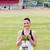 счастливым · женщины · спортсмена · трофей · стадион - Сток-фото © wavebreak_media