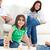 feliz · crianças · jogar · sala · de · estar · pais · família - foto stock © wavebreak_media