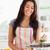 格好良い · 女性 · 野菜 · 立って · キッチン · 手 - ストックフォト © wavebreak_media