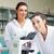 sevimli · bilim · Öğrenciler · poz · laboratuvar · kadın - stok fotoğraf © wavebreak_media