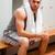 portret · sport · student · vergadering · bank · handdoek - stockfoto © wavebreak_media