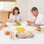 aile · akşam · yemeği · birlikte · gülümseme · erkek · gülen - stok fotoğraf © wavebreak_media