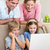 kinderen · met · behulp · van · laptop · home · computer · familie · man - stockfoto © wavebreak_media