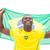 szczęśliwy · piłka · nożna · fan · banderą - zdjęcia stock © wavebreak_media