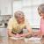 idős · pár · fizet · számlák · otthon · konyha · nő - stock fotó © wavebreak_media