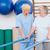 terapeuta · pomoc · starszy · kobieta · chodzić · równolegle - zdjęcia stock © wavebreak_media