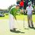 golfer · gat · vlag · vriend · bal - stockfoto © wavebreak_media