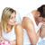 zangado · casal · argumento · atraente · cama - foto stock © wavebreak_media