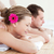 Relaxed young couple receiving a back massage  stock photo © wavebreak_media