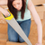 Attractive red-haired woman using a saw for diy at home stock photo © wavebreak_media