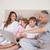 портрет · семьи · ноутбук · спальня · улыбка · домой - Сток-фото © wavebreak_media