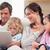 spokojny · rodziny · notebooka · salon · miłości · Internetu - zdjęcia stock © wavebreak_media