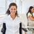 inválido · empresário · colegas · escritório · feliz · maduro - foto stock © wavebreak_media