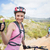 Fit couple cycling on mountain trail woman smiling at camera stock photo © wavebreak_media