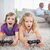 mannelijke · bonding · video · games · oom · twee · spelen - stockfoto © wavebreak_media