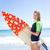 portré · boldog · nő · áll · szörfdeszka · víz - stock fotó © wavebreak_media