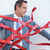 Businessman trapped by red tape stock photo © wavebreak_media