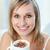 portret · szczęśliwy · kobieta · pitnej · kawy · posiedzenia - zdjęcia stock © wavebreak_media