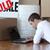 концентрированный · человека · рабочих · ноутбука · счастливым - Сток-фото © wavebreak_media