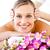güzel · kadın · çiçekler · kafa · masaj · spa - stok fotoğraf © wavebreak_media