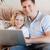 父から息子 · ラップトップを使用して · ソファ · コンピュータ · 家族 · 愛 - ストックフォト © wavebreak_media