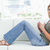 Frau · schauen · vorwärts · Sitzung · Beine · angehoben - stock foto © wavebreak_media