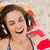 young woman closing her eyes while listening to music stock photo © wavebreak_media