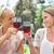 női · barátok · borospoharak · szépség · nyár · zöld - stock fotó © wavebreak_media