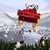 composite image of santa flying his sleigh stock photo © wavebreak_media
