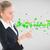 elegante · mujer · de · negocios · senalando · mano · presentación · conferencia - foto stock © wavebreak_media