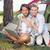 mutlu · dizüstü · bilgisayar · kullanıyorsanız · çim · bilgisayar · sevmek - stok fotoğraf © wavebreak_media