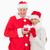 glimlachend · actieve · senioren · geschenk · christmas · home - stockfoto © wavebreak_media