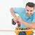 bouwvakker · hand · boor · houten · plank · mannelijke - stockfoto © wavebreak_media
