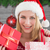 composite image of woman smiling with christmas shopping stock photo © wavebreak_media