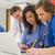 medische · studenten · vergadering · praten · universiteit · computer - stockfoto © wavebreak_media