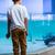 férfi · fiatalember · sapka · kék · üzlet · iroda - stock fotó © wavebreak_media