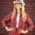 великолепный · улыбаясь · блондинка · рук · бедра - Сток-фото © wavebreak_media