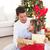 gülen · baba · kız · açılış · Noel · hediyeler - stok fotoğraf © wavebreak_media