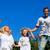 cute family jumping in the air stock photo © wavebreak_media