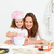 portrait of an adorable mother and daughter preparing a daugh together in the kitchen stock photo © wavebreak_media