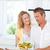 couple · cuisson · ensemble · cuisine · maison · femme - photo stock © wavebreak_media
