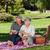 elderly couple picnicking in the garden stock photo © wavebreak_media