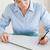 великолепный · женщину · рабочих · архитектурный · плана · служба - Сток-фото © wavebreak_media