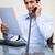 улыбаясь · молодые · бизнесмен · документы · телефон - Сток-фото © wavebreak_media