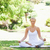 jeune · femme · séance · yoga · poste · parc · beauté - photo stock © wavebreak_media