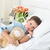 boy lying with teddy bear in hospital stock photo © wavebreak_media