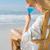sorridente · relaxante · convés · cadeira · mar - foto stock © wavebreak_media