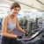 Fit brunette working out on the exercise bike stock photo © wavebreak_media