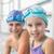 sonriendo · nino · nina · piscina · agua - foto stock © wavebreak_media
